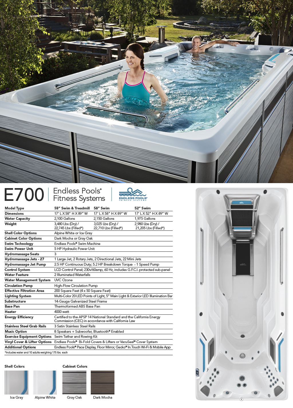 E700 Endless Pools Fitness System